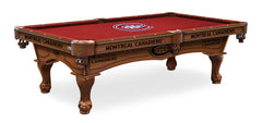 Montreal Canadians Pool Table with Logo Cloth