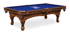 New York Rangers Pool Table with Logo Cloth
