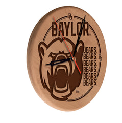 Baylor Bears Engraved Wood Clock