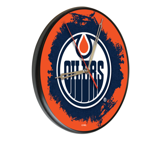 Edmonton Oilers Printed Wood Clock
