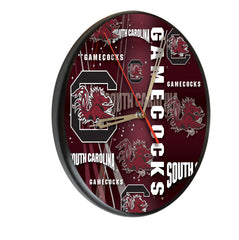 South Carolina Gamecocks Printed Wood Clock