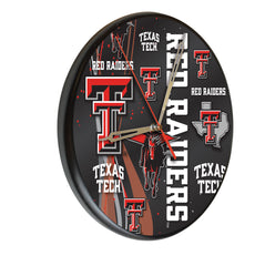 Texas Tech Red Raiders Printed Wood Clock