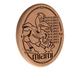 Miami Hurricanes Engraved Wood Sign