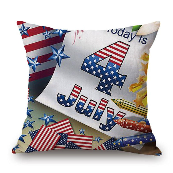 "Happy Camper 4th of July Pillow Cover | 17"" x 17"""
