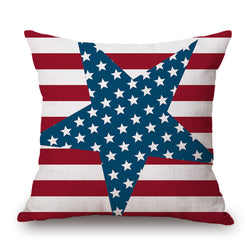 "2018 New Stars and Stripes | USA Pillow Cover | 17"" x 17"" Square"