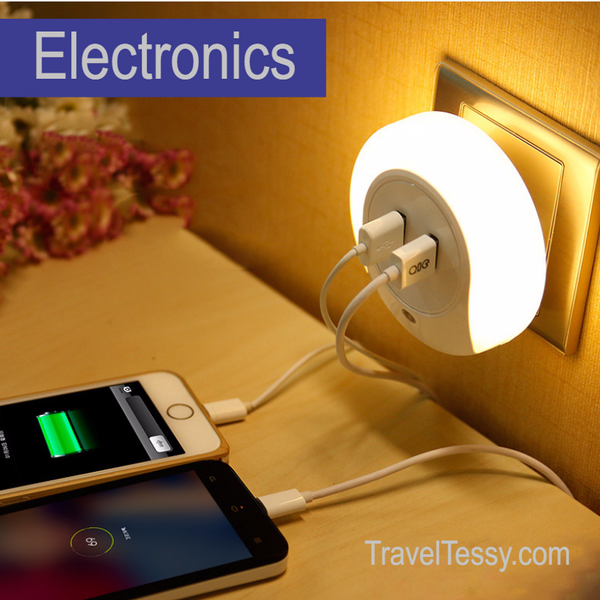 USB Wall Charger With LED Night Light - For Charging Your Tablets And Phones At Home And Away