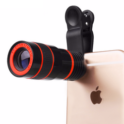 8x Zoom Camera Lens and Clip for iPhone, Samsung, LG, Sony