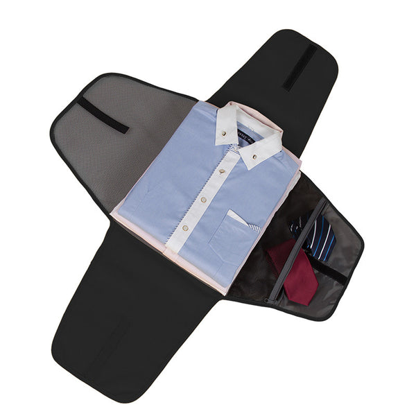"17"" Wrinkle-Free Folder. Business Shirt Organizer + Tie Storage = Business Travel Made Easy!"
