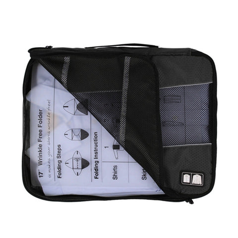 Travel Packing Cube To Pack 6 Wrinkle Free Shirts (Includes Folding Board)