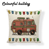 "NEW! Evolution of the Camper Van | Happy Camper Pillow Covers | Class-C Camper Van | 17""x17"""