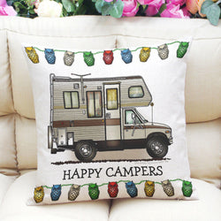"Happy Campers Truck Camper | 17"" X 17"" (45 cm x 45 cm) 
