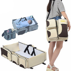 Baby Travel Bed Bag | 4-in-1 Bed, Diaper Bag, Change Table, Play Mat