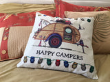 "8 Designs | Happy Campers Pillow Covers | 17"" x 17"""
