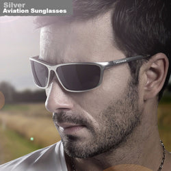 Men's Aviation Sunglasses with Polarized Lens