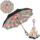 Reverse Folding Umbrella That Stands By You - Windproof, Hook Handle For Hands-Free Use