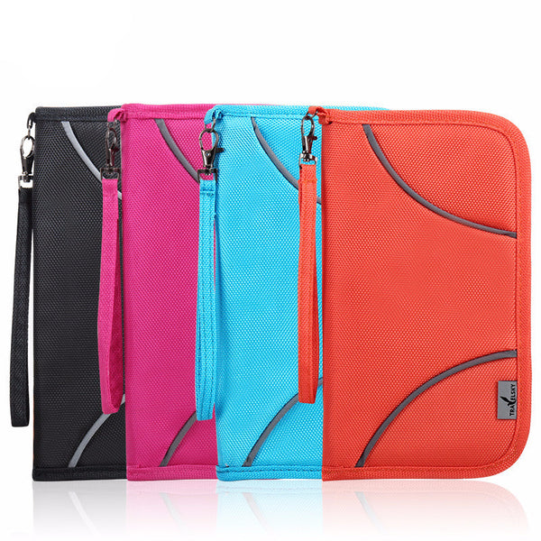 RFID Blocking Multi-Function Credit Card and Passport Wallet - Great Colors!