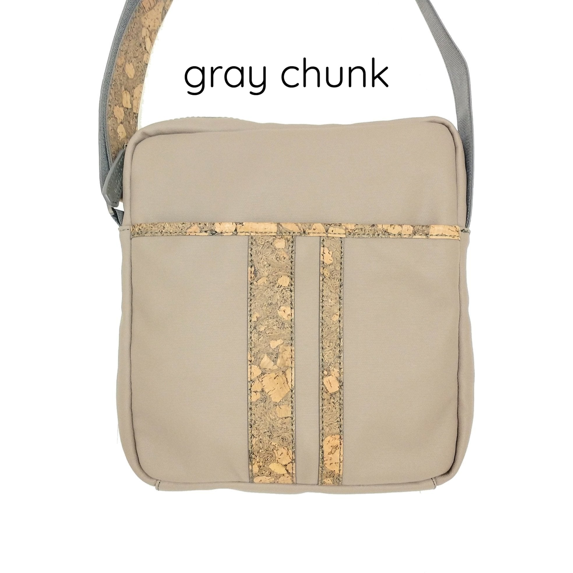Queork cork the nelson messenger bag gray chunk