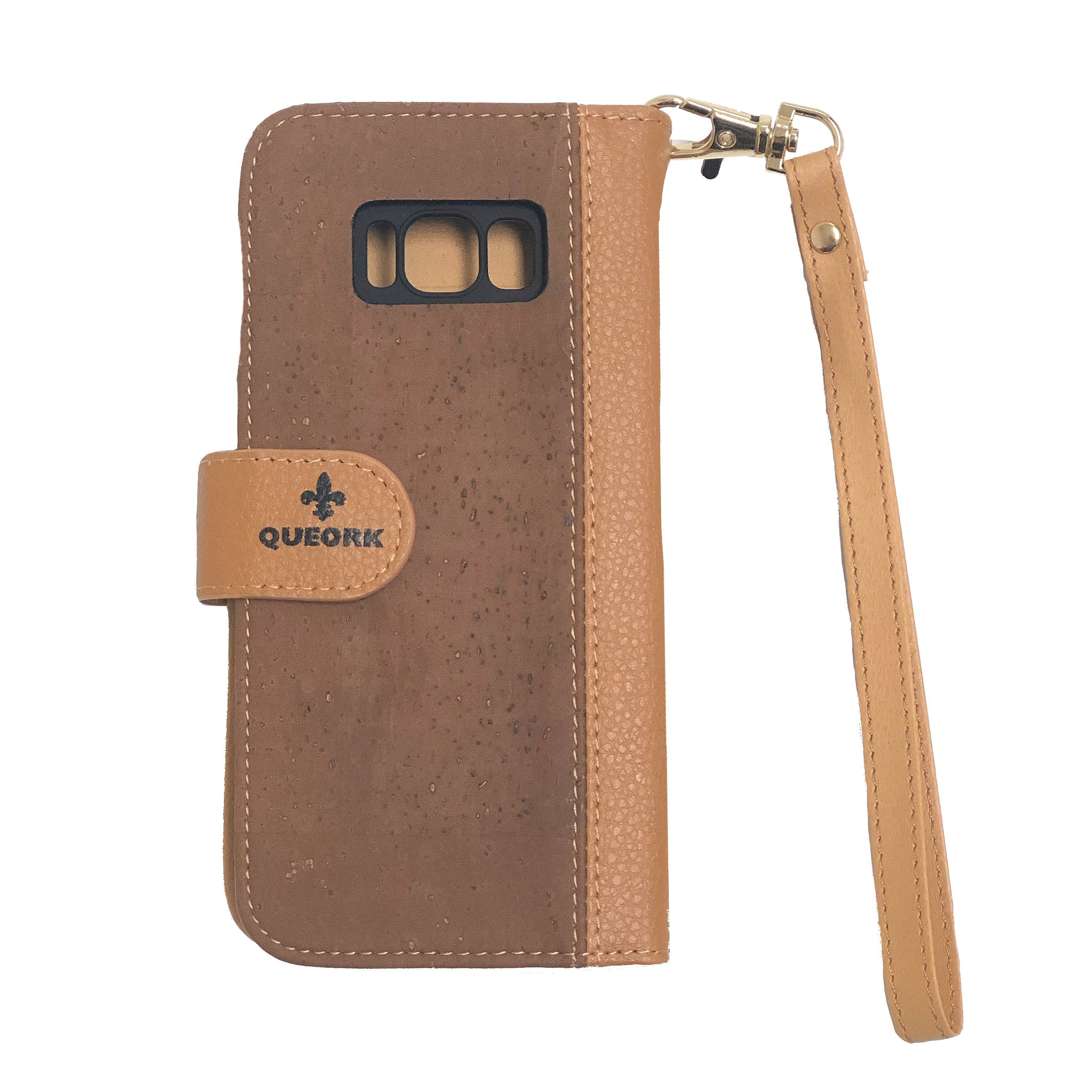 queork cork samsung phone wallet case beige