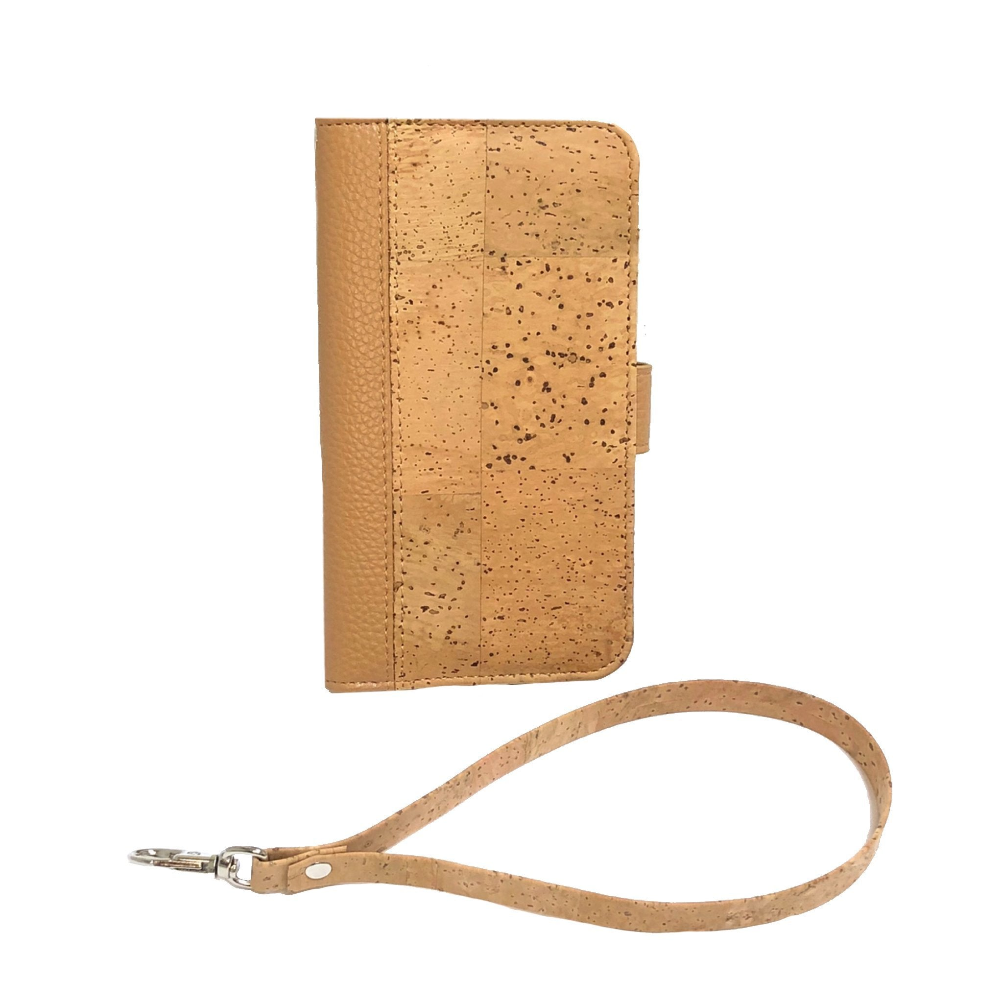 queork cork iphone wallet case natural