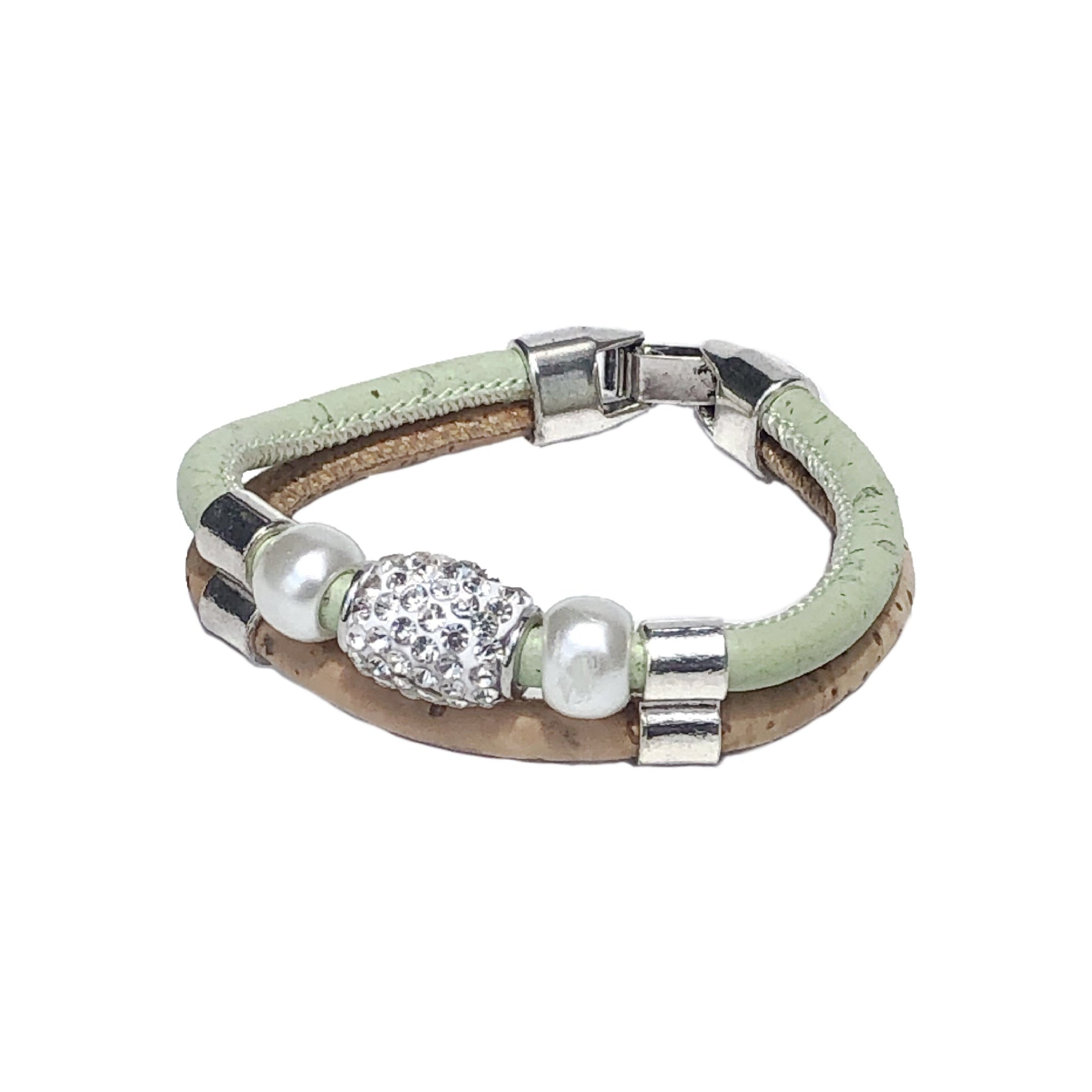 Rhinestone Double Band Bracelet