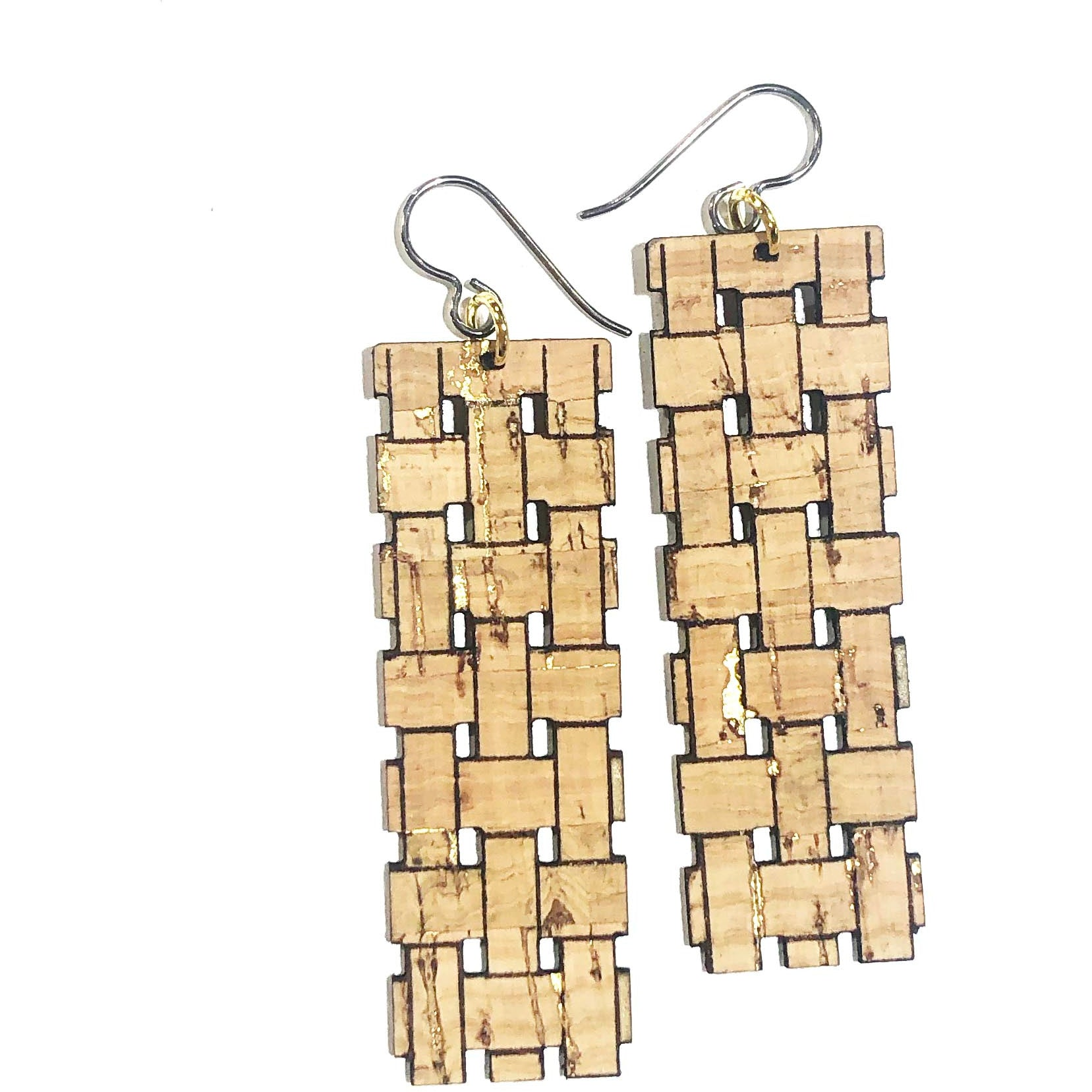 Woven Basket Earrings