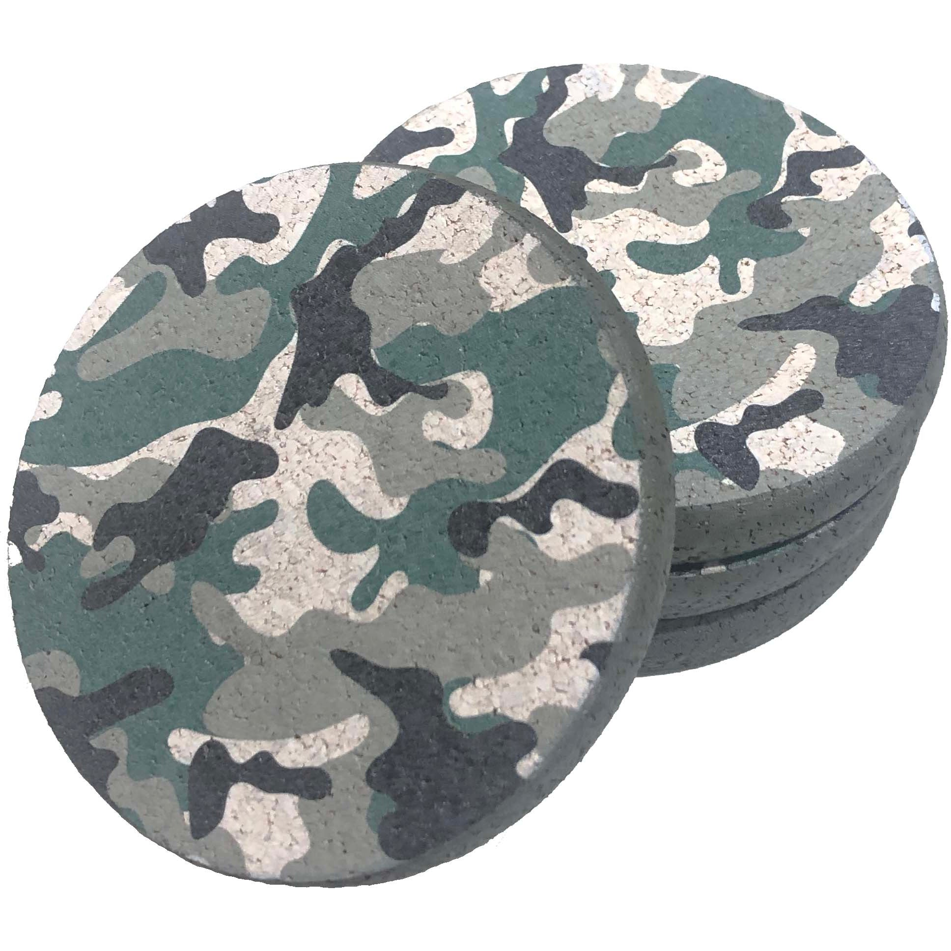CAMOUFLAGE CORK TRIVETS & COASTERS
