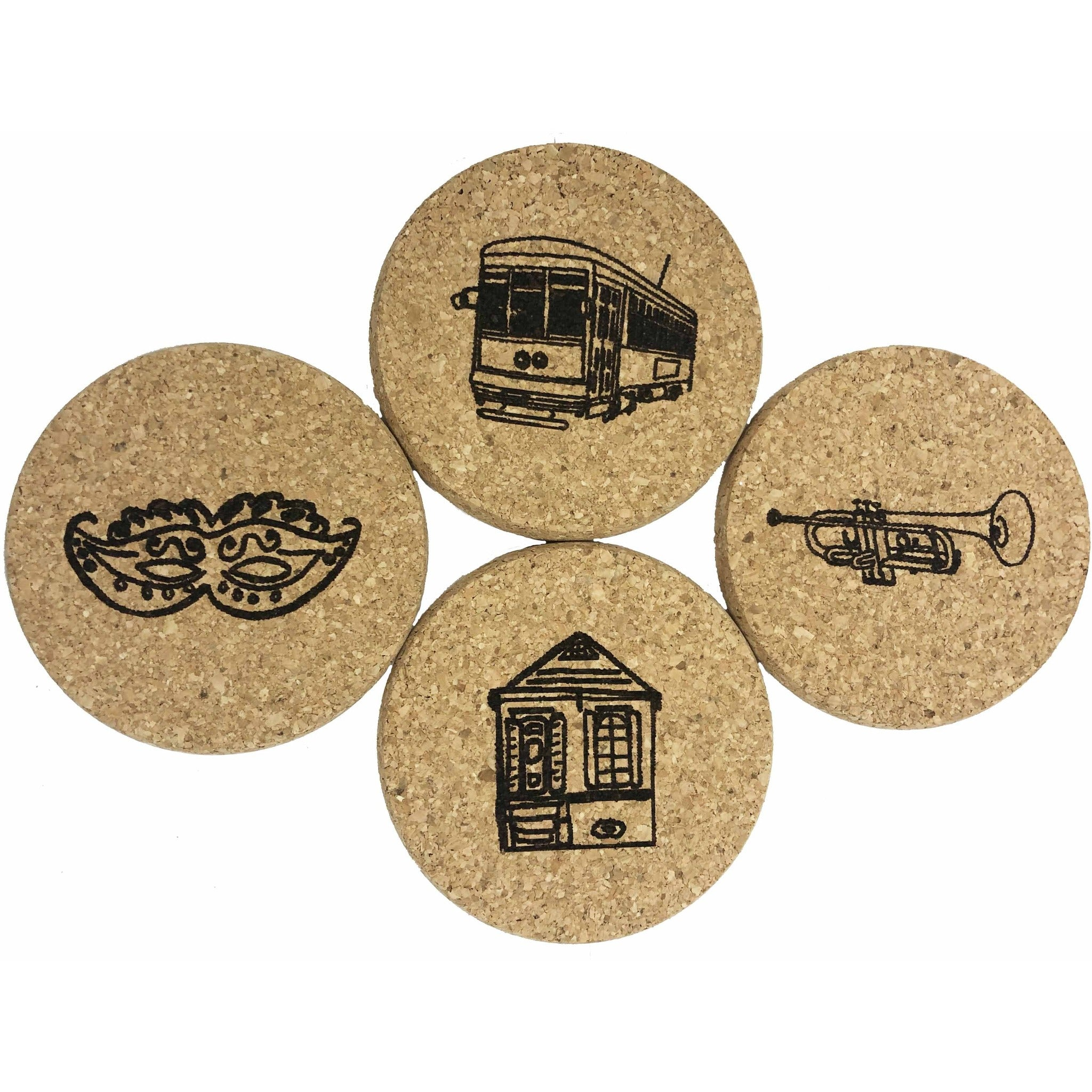 queork cork coasters new orleans