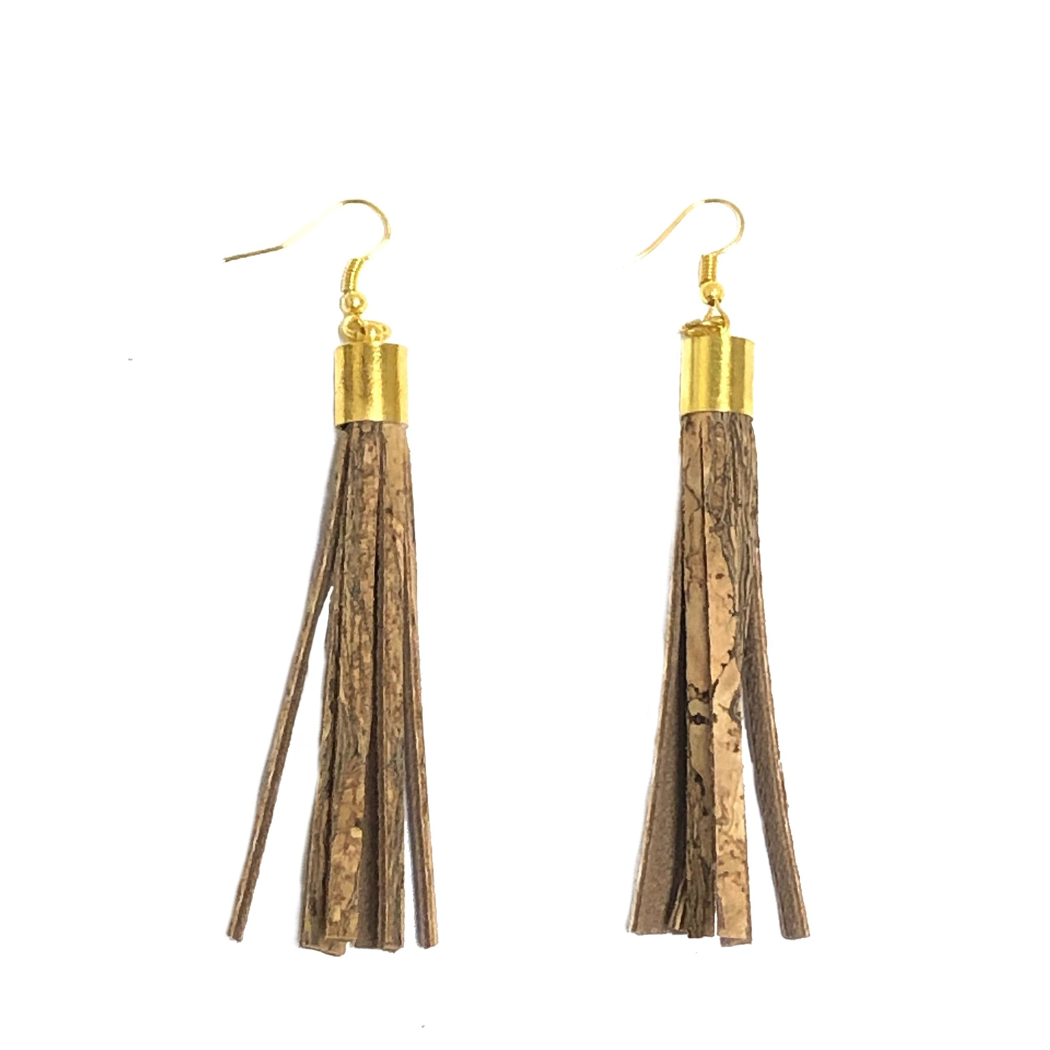 Cork Tassel Earrings