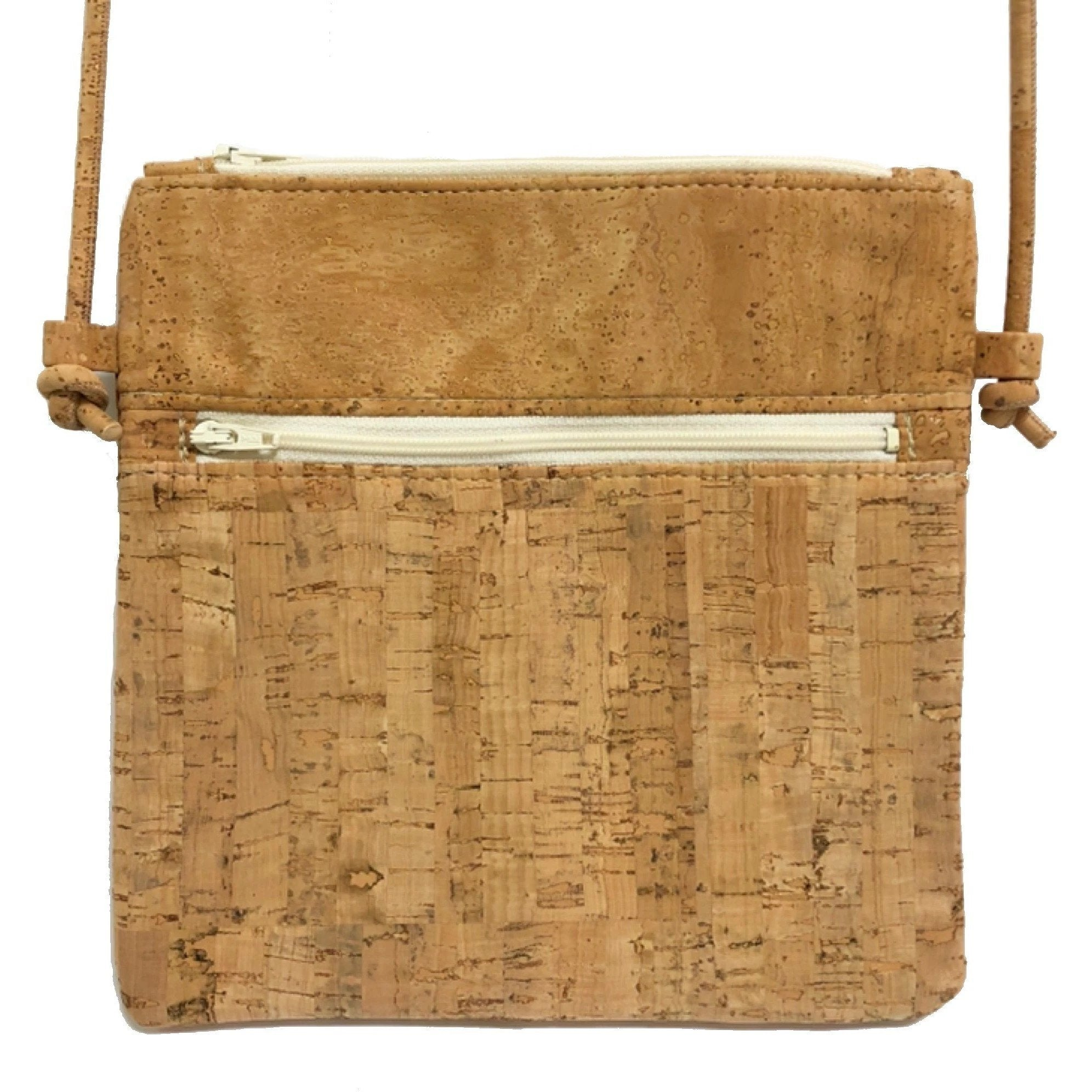 queork cork double zipper bamboo