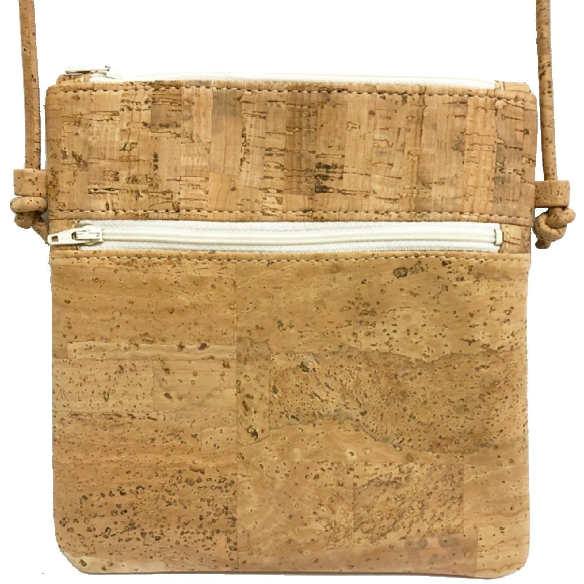 queork cork double zipper natural