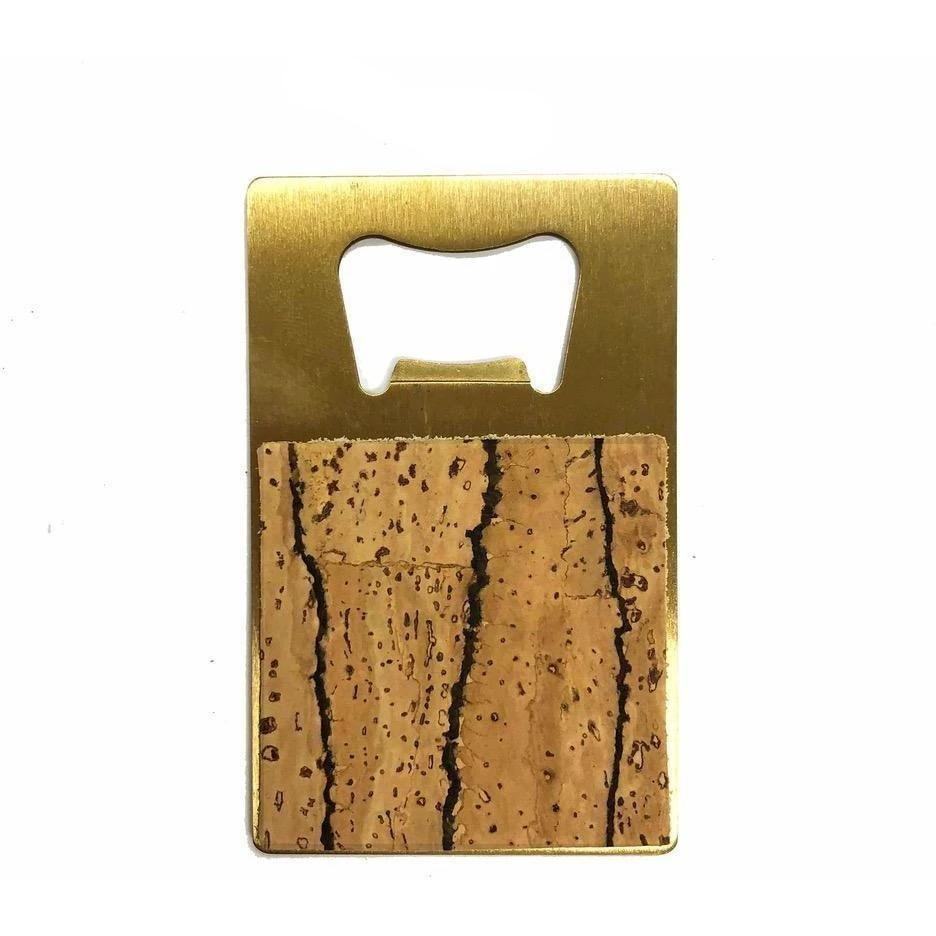 Brass + Cork Credit Card Bottle Opener