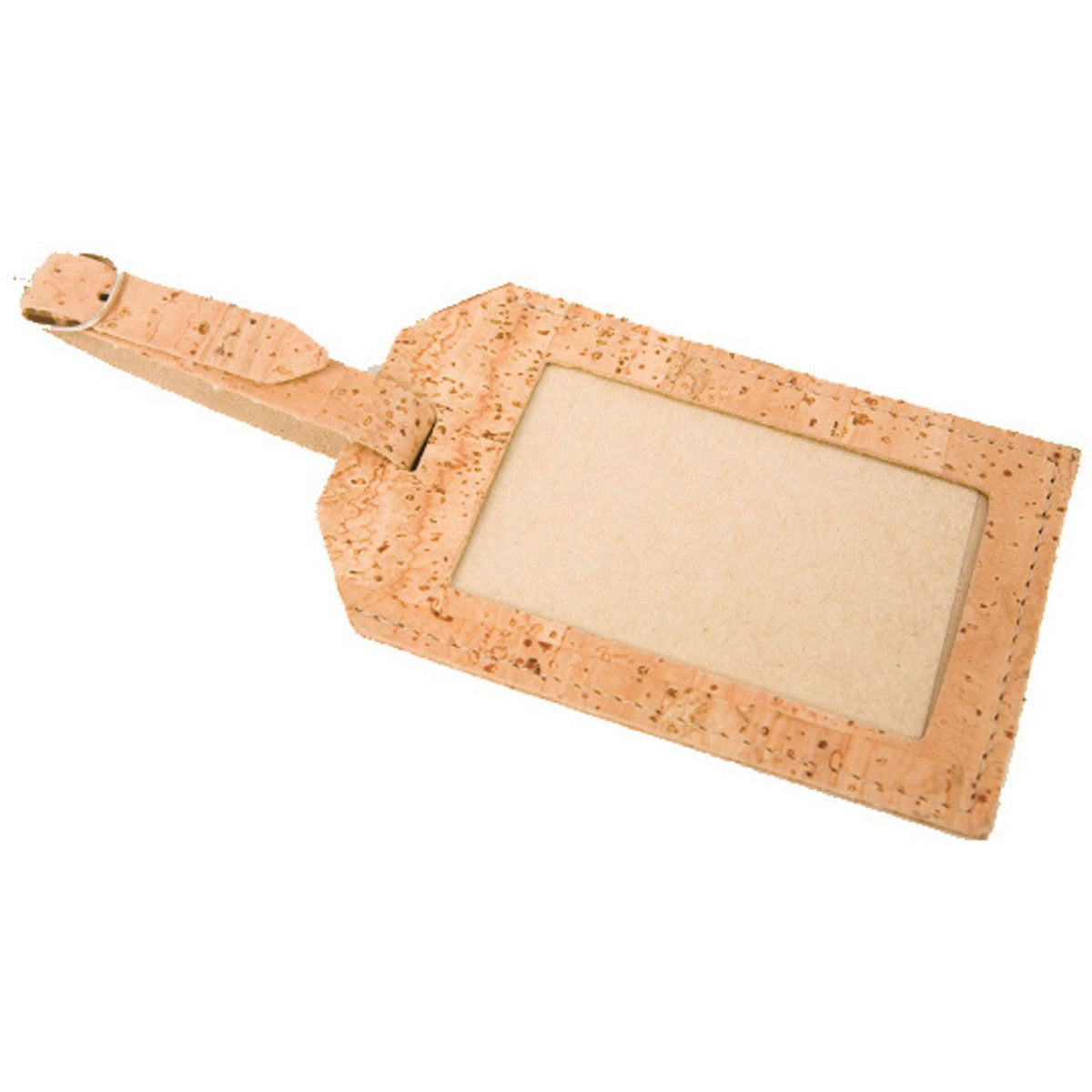 cork leather luggage tag