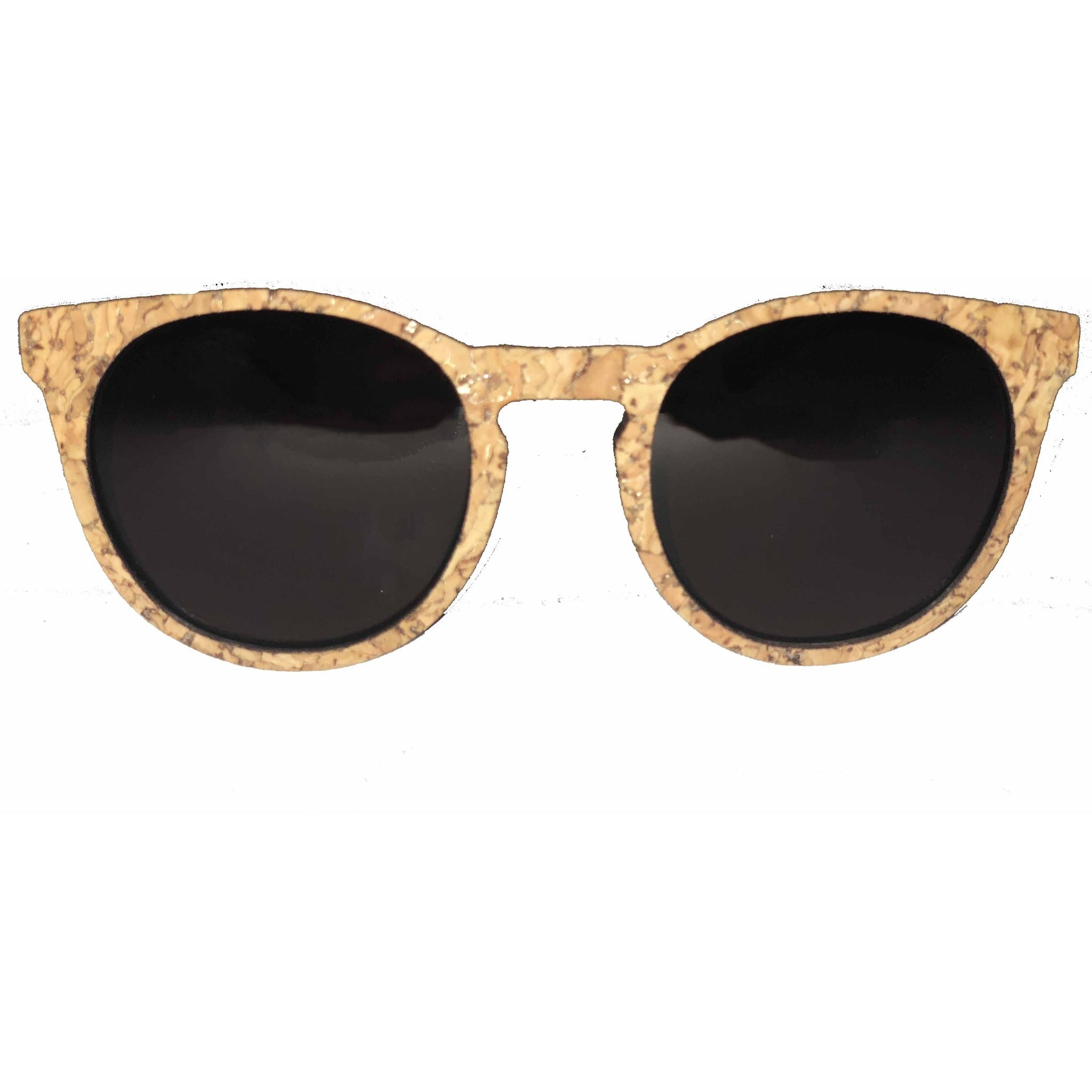 queork cork sunglasses round natural