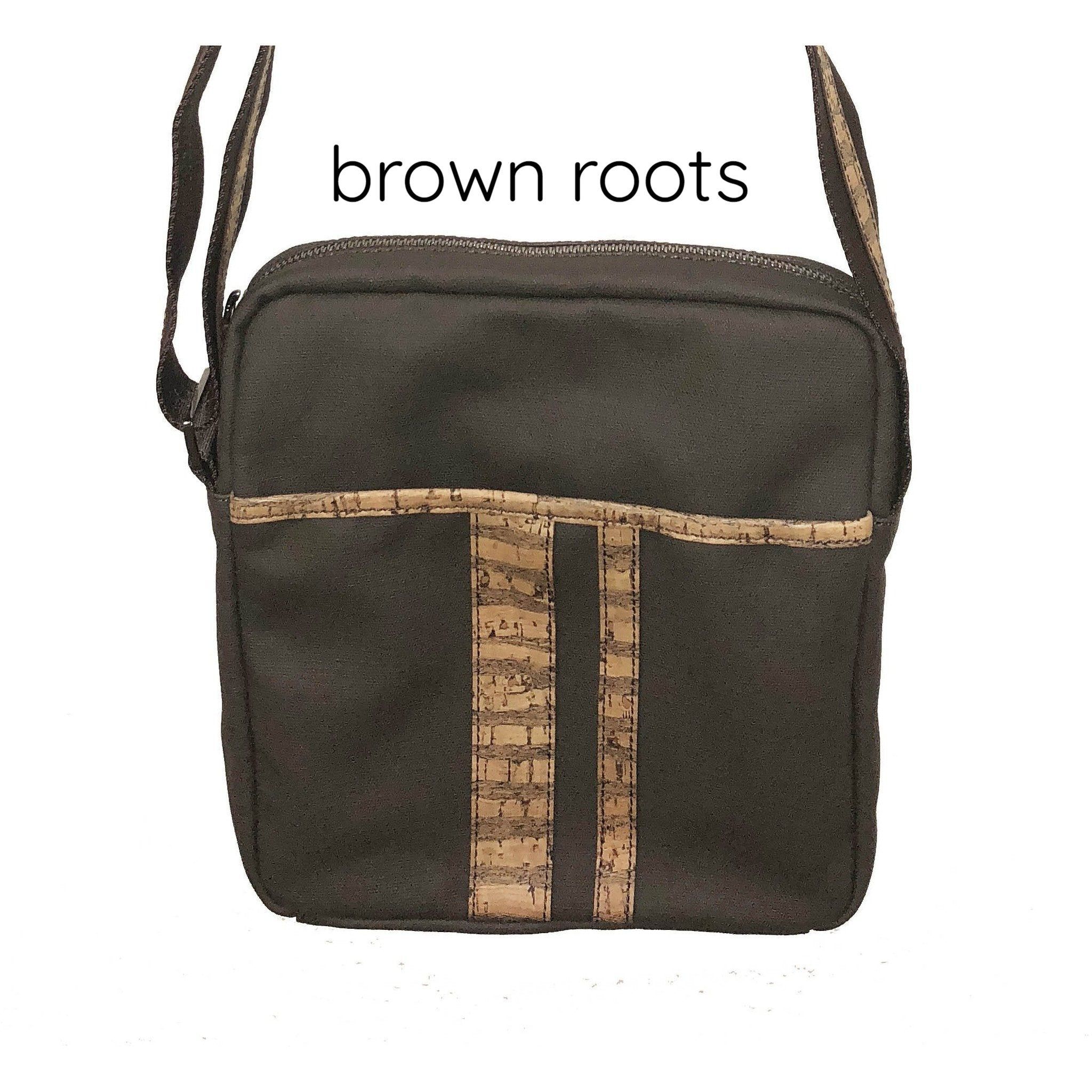 Queork cork the nelson messenger bag brown roots
