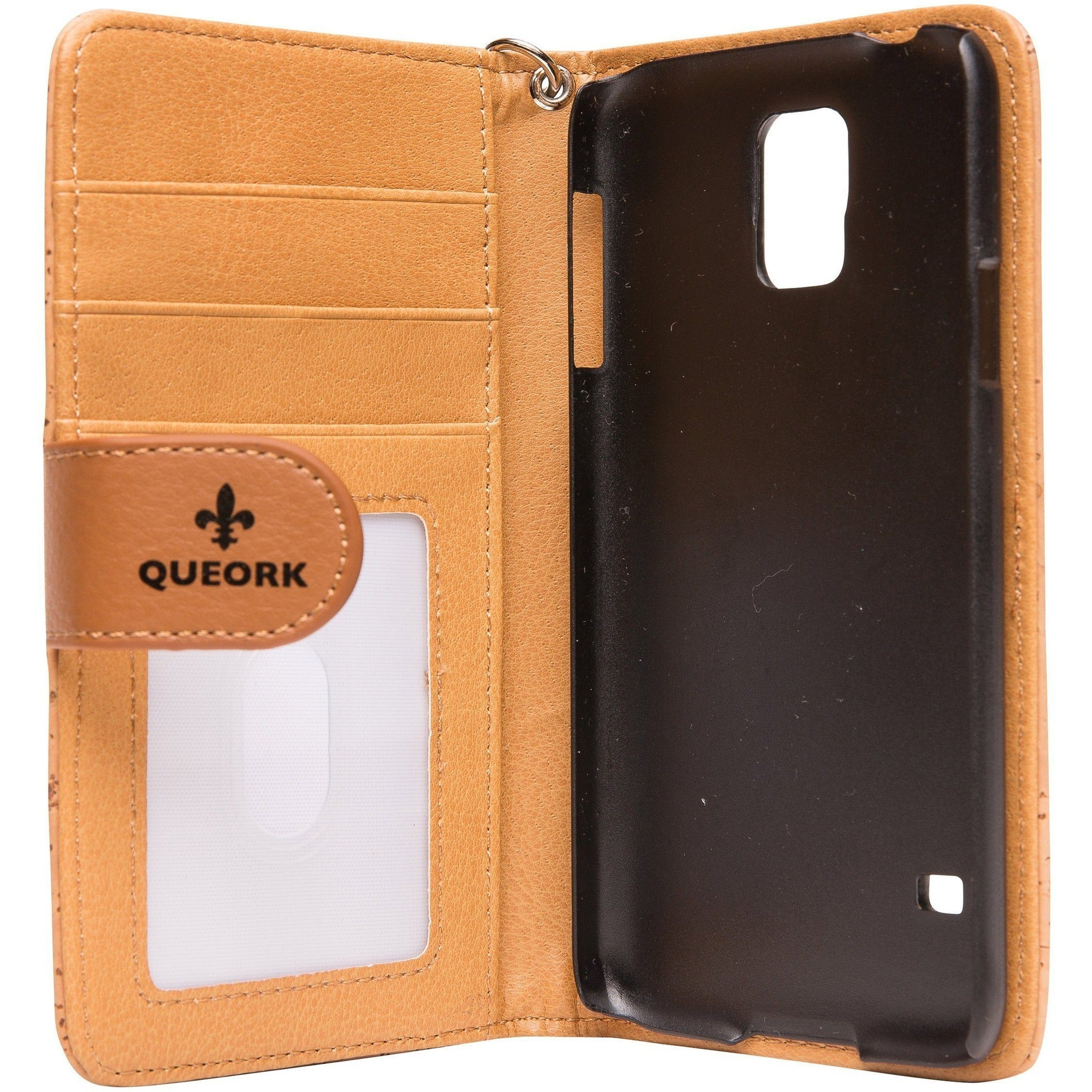 queork cork samsung phone wallet case