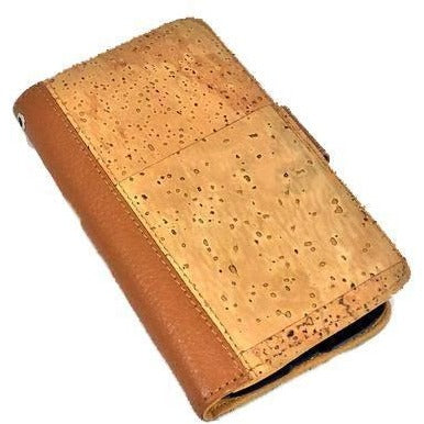 queork cork samsung phone wallet case natural