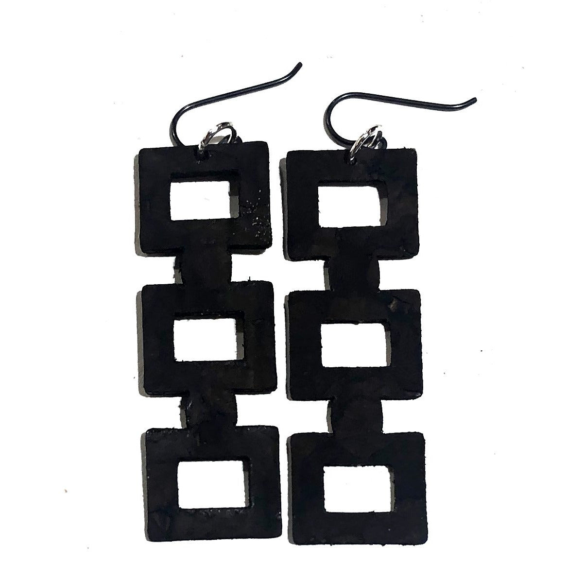 Square Block Earrings