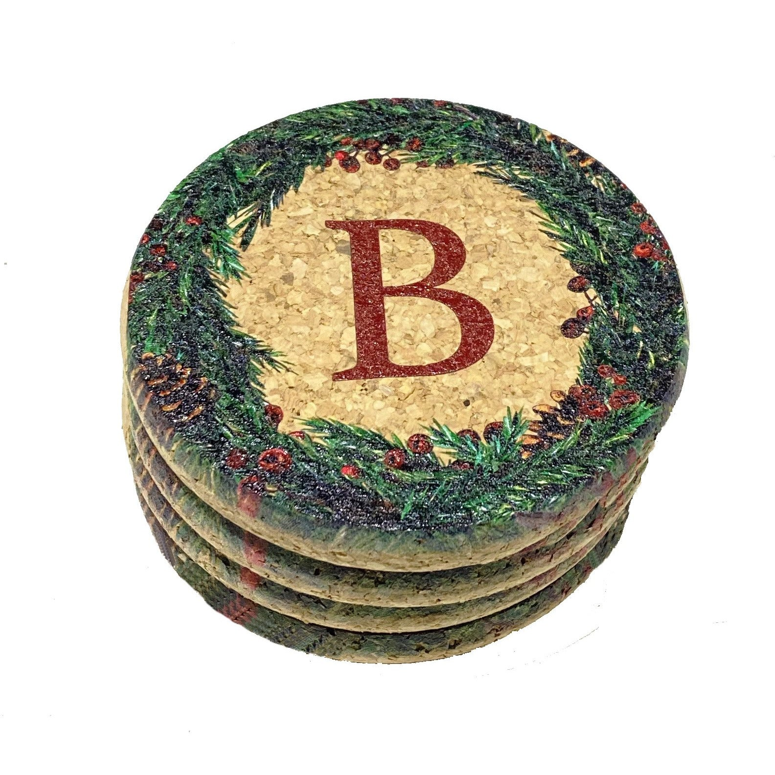 WREATH CORK TRIVETS AND COASTERS
