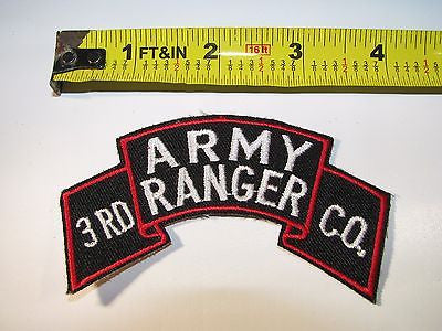 Embroidered US Army 3rd Ranger Company Shoulder Patch Spec Ops Special Forces