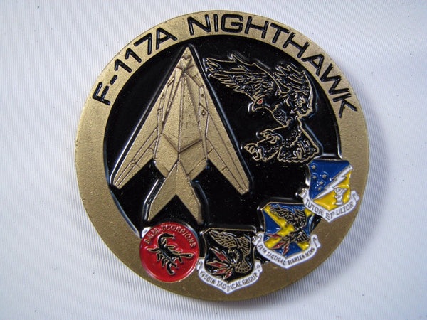 Authentic USAF Air Force F-117A Stealth Fighter Nighthawk 25 Year Challenge Coin