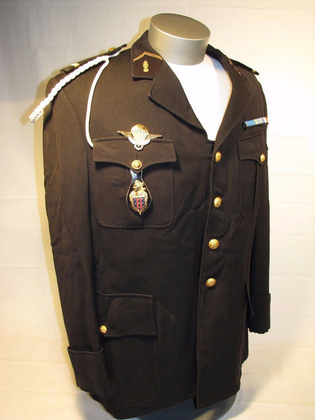 Vintage Genuine French Military Uniform Dress Jacket Airborne Chief Adjutant