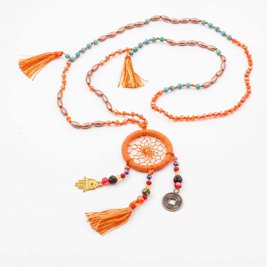 Dream Catcher Necklace Meaning Dreamcatcher Necklace in different colors LINDA HERING US 23