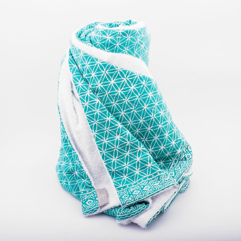 Towel Flower of Life turquoise