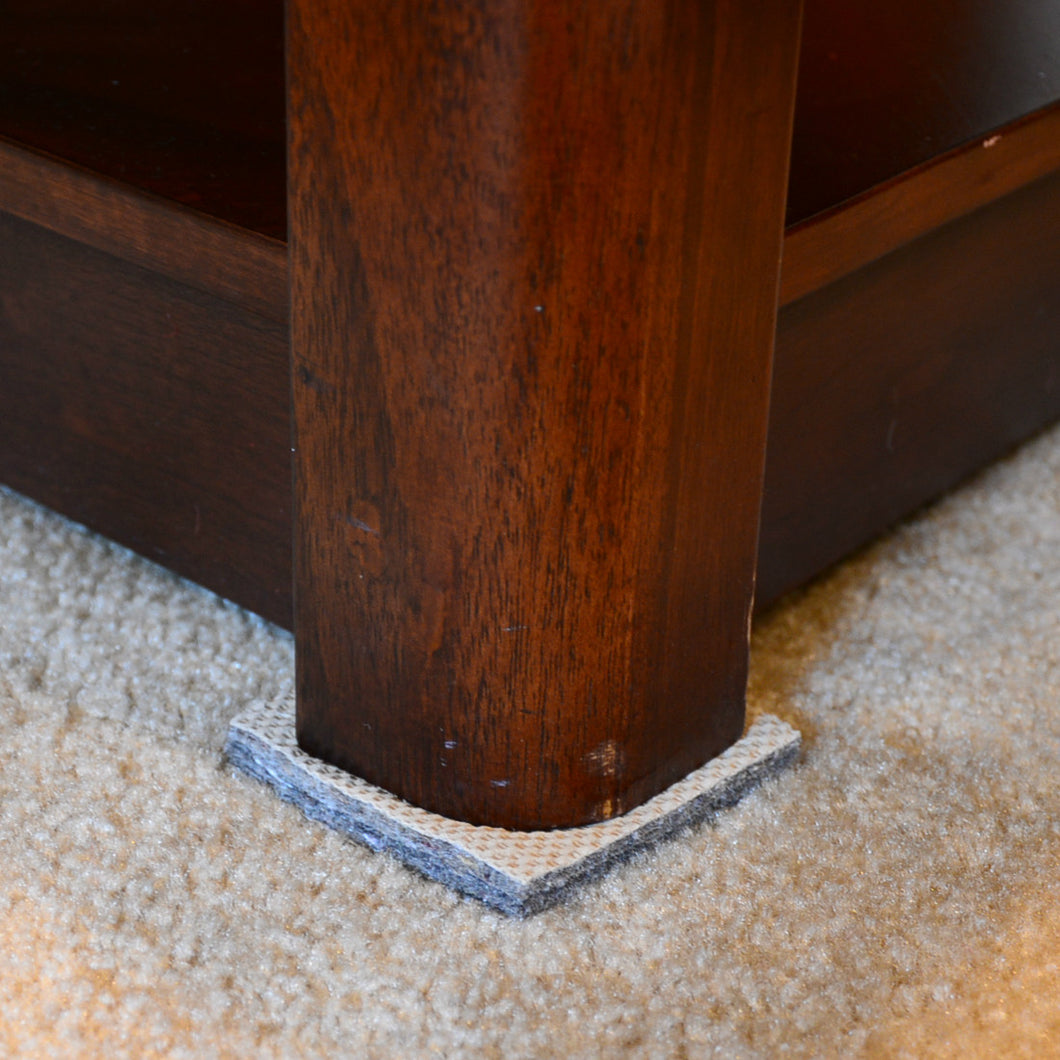 DURA-GRIP® Square Furniture Gripper for Carpeted Floors
