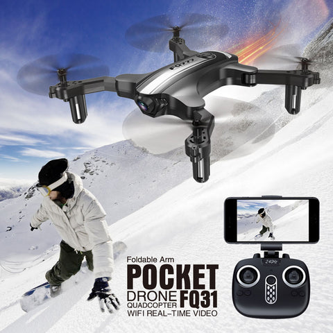 Clearance RC Drone 4CH 6-Axis Gyro 720P Drone FPV 2.4G WIFI Foldable Quadcopter One Key Return Real Time Transmission