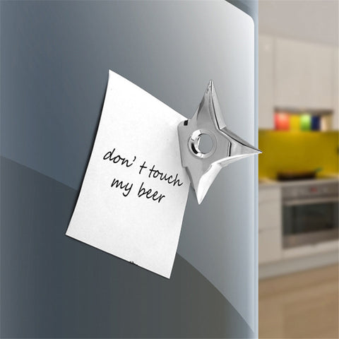 Ninja Star (Shuriken) Fridge Magnets