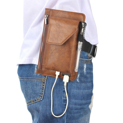 Multi-function Wallet and Mobile Phone holder with USB Charger