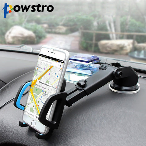 Retractable Long-Neck One-Touch Car Suction Cup Mount Mobile Phone Holder Stand Support Windshield Air Outlet Platform Stand