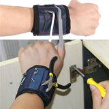 Magnetic Wristband with Built-in Strong Magnets for Holding Screws Nails Drill Bits for DIY Projects