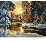 "DIY Painting By Numbers - Beautiful Snow (16""x20"" / 40x50cm)"